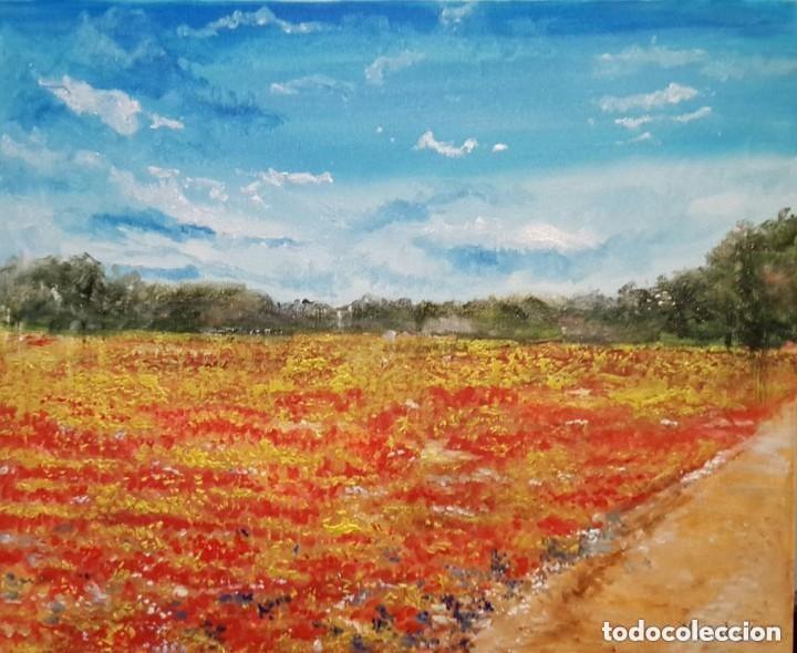 PAISAJE IMPRESIONISTA AL OLEO POR PINTOR ANTONIO SANCHEZ CABELLO (Arte - Pintura - Pintura al Óleo Contemporánea )