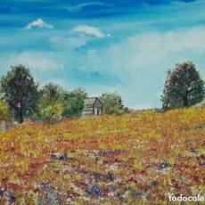 Arte: PAISAJE IMPRESIONISTA AL OLEO POR PINTOR ANTONIO SANCHEZ CABELLO. Lote 99192279