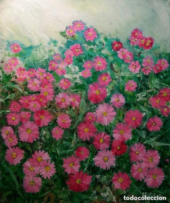 FLORES IMPRESIONISTA AL OLEO POR PINTOR ANTONIO SANCHEZ CABELLO (Arte - Pintura - Pintura al Óleo Contemporánea )