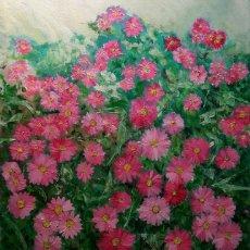 Arte: FLORES IMPRESIONISTA AL OLEO POR PINTOR ANTONIO SANCHEZ CABELLO. Lote 99192287
