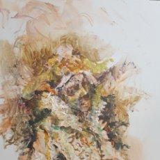 Arte: CARLOS MERCHAN, RETRATO FIGURATIVO, OLEO SOBRE TABLA, FIRMADO. 20X30CM. Lote 99237879