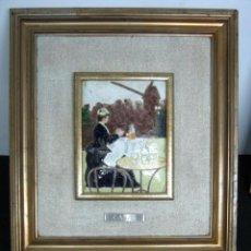 Arte: ESMALTE SOBRE METAL RAMON CASAS - MODERNISMO ART NOUVEAU CATALAN - ENMARCADO. Lote 99314735