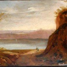 Arte: ESCUELA ITALIANA DEL SIGLO XIX. OLEO SOBRE TABLA FECHADO DEL AÑO 1845. Lote 99339887