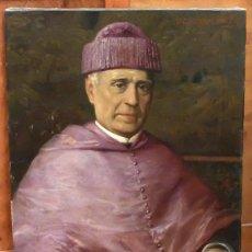 Arte: VICTORIANO CODINA LANGLIN (BARCELONA, 1844 - 1911) OLEO SOBRE TELA. RETRATO DE UN ACADEMICO. Lote 99340359