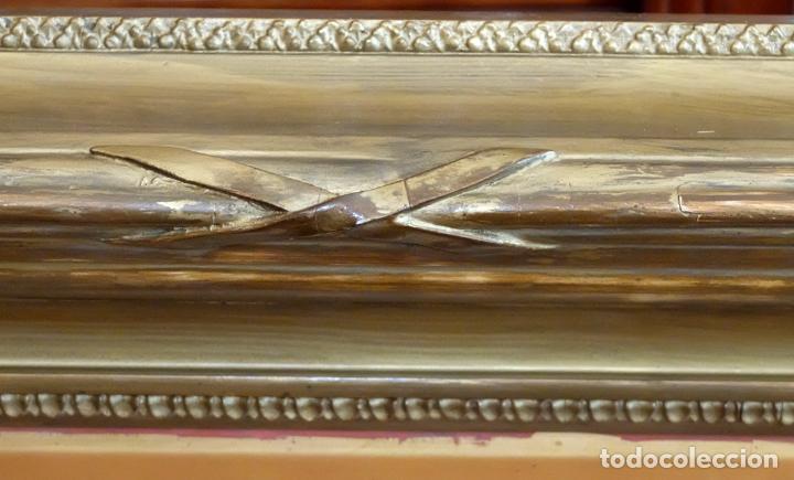 Arte: ESCUELA INGLESA DEL SIGLO XIX. OLEO SOBRE TELA. PAISAJE CON PASTO. 77 cm. x 127 cm. - Foto 14 - 99344283
