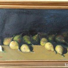 Arte: BODEGON DE PERAS DE JOSE MARIA OTEGUI, OLEO SOBRE LIENZO, FIRMADO.. Lote 99352771
