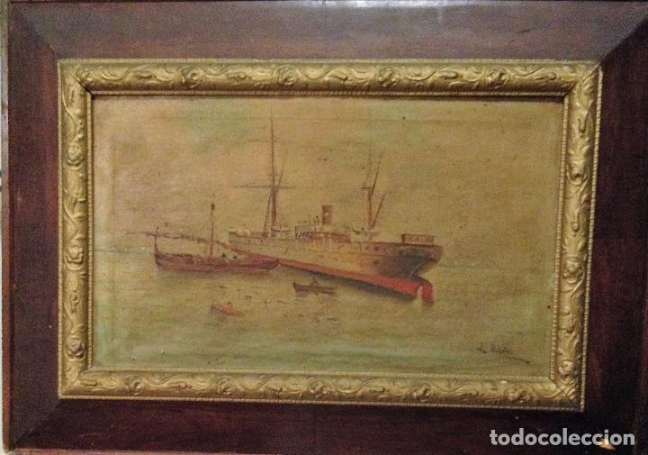PAREJA DE MARINAS S XIX. FIRMADAS (Arte - Pintura - Pintura al Óleo Moderna siglo XIX)
