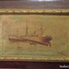 Arte: PAREJA DE MARINAS S XIX. FIRMADAS. Lote 99374559
