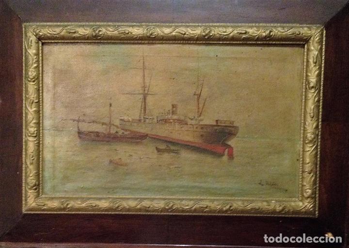 Arte: Pareja de marinas S XIX. Firmadas - Foto 2 - 99374559