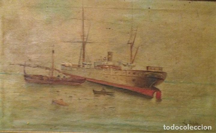 Arte: Pareja de marinas S XIX. Firmadas - Foto 3 - 99374559
