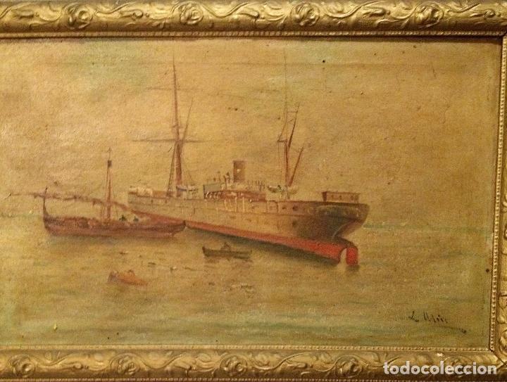 Arte: Pareja de marinas S XIX. Firmadas - Foto 4 - 99374559