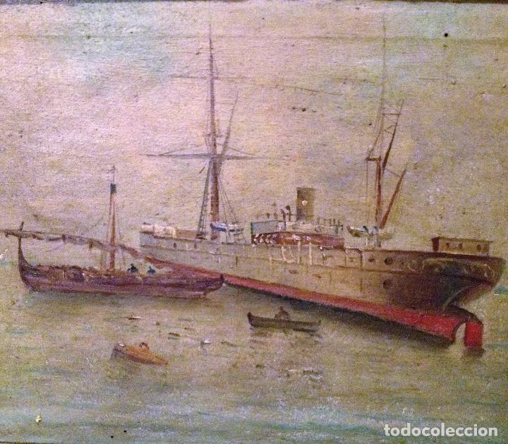 Arte: Pareja de marinas S XIX. Firmadas - Foto 5 - 99374559