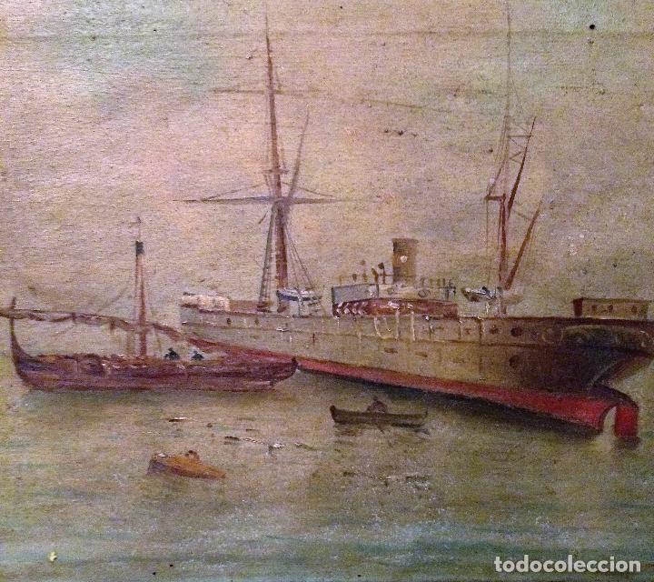 Arte: Pareja de marinas S XIX. Firmadas - Foto 7 - 99374559