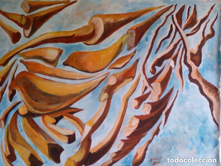 PINTURA,SOBRE LIENZO,SIN BASTIDOR.FIRMADA (Arte - Pintura - Pintura al Óleo Contemporánea )