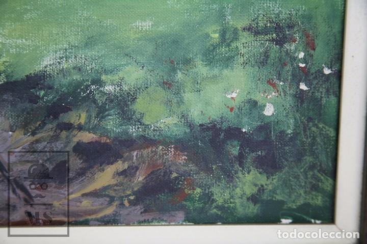 Arte: Pintura al Óleo Sobre Lienzo - Albert Junyent. Paisaje con Carreta - Primera Mitad S. XX - Foto 5 - 99530875