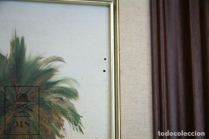 Arte: Pintura al Óleo Sobre Lienzo - Ibiza. Firmado Mark - Mediados del Siglo XX - Medidas 45 x 54 cm - Foto 6 - 99530883