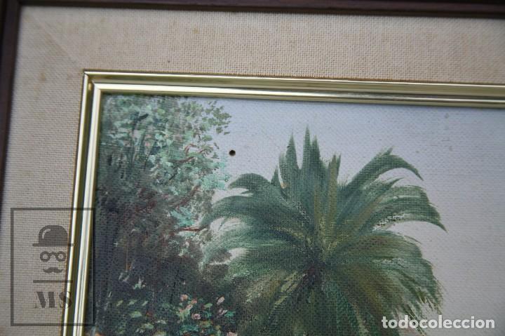 Arte: Pintura al Óleo Sobre Lienzo - Ibiza. Firmado Mark - Mediados del Siglo XX - Medidas 45 x 54 cm - Foto 7 - 99530883