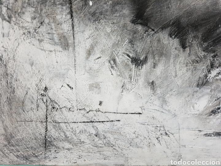Arte: HOMBRE QUE GRITA, CARLOS MERCHÁN, OBRA ORIGINAL, CON LIBRO CATALOGADA. 80x64cm - Foto 3 - 99563720