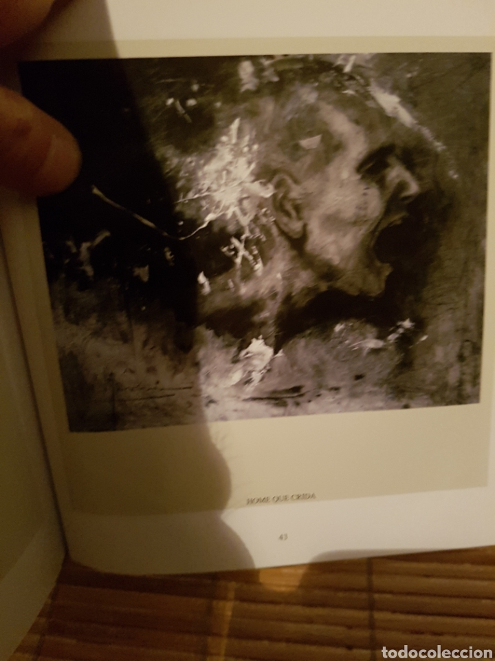 Arte: HOMBRE QUE GRITA, CARLOS MERCHÁN, OBRA ORIGINAL, CON LIBRO CATALOGADA. 80x64cm - Foto 5 - 99563720