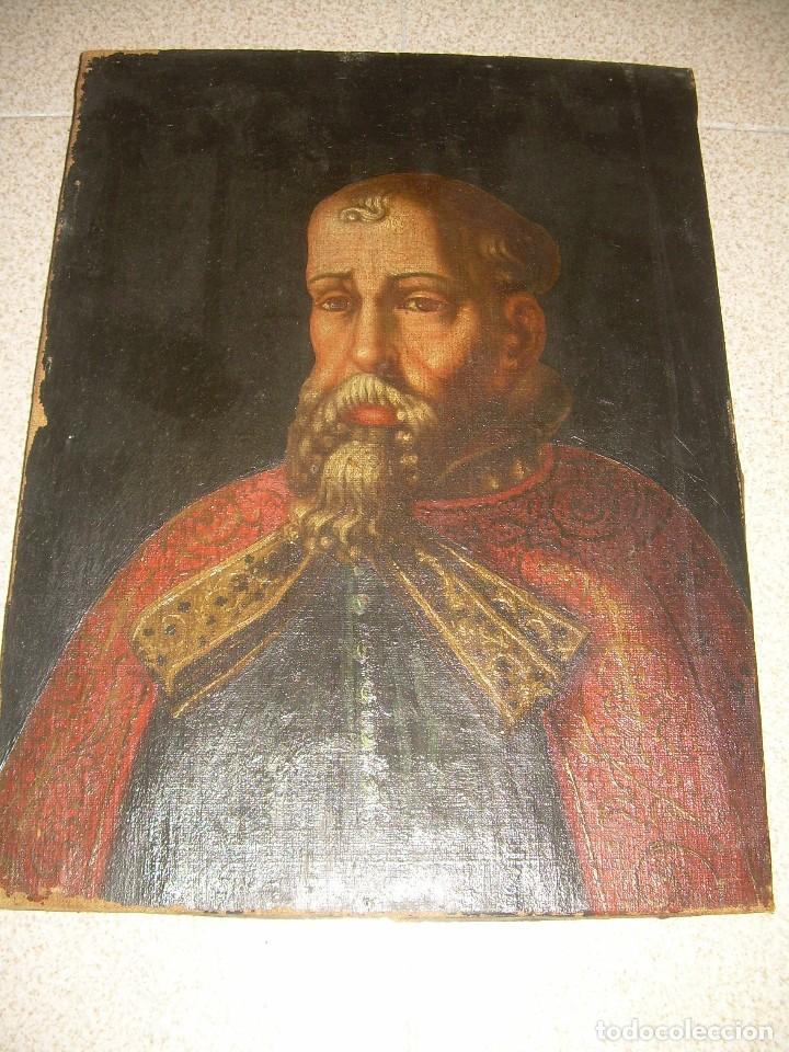 OLEO SOBRE LIENZO ANONIMO...SIGLO XVIII...CABALLERO. (Arte - Pintura - Pintura al Óleo Antigua siglo XVIII)