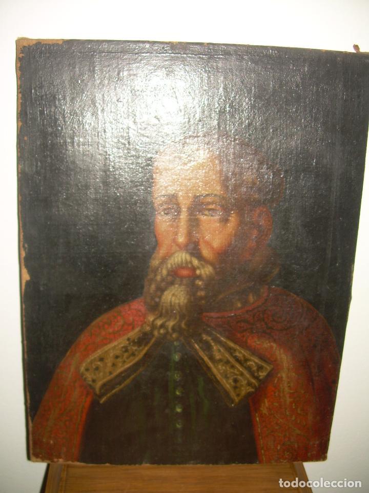 Arte: OLEO SOBRE LIENZO ANONIMO...SIGLO XVIII...CABALLERO. - Foto 2 - 99669067
