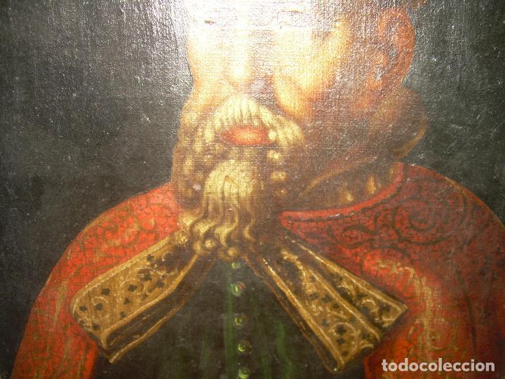 Arte: OLEO SOBRE LIENZO ANONIMO...SIGLO XVIII...CABALLERO. - Foto 4 - 99669067