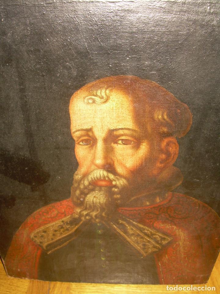Arte: OLEO SOBRE LIENZO ANONIMO...SIGLO XVIII...CABALLERO. - Foto 5 - 99669067