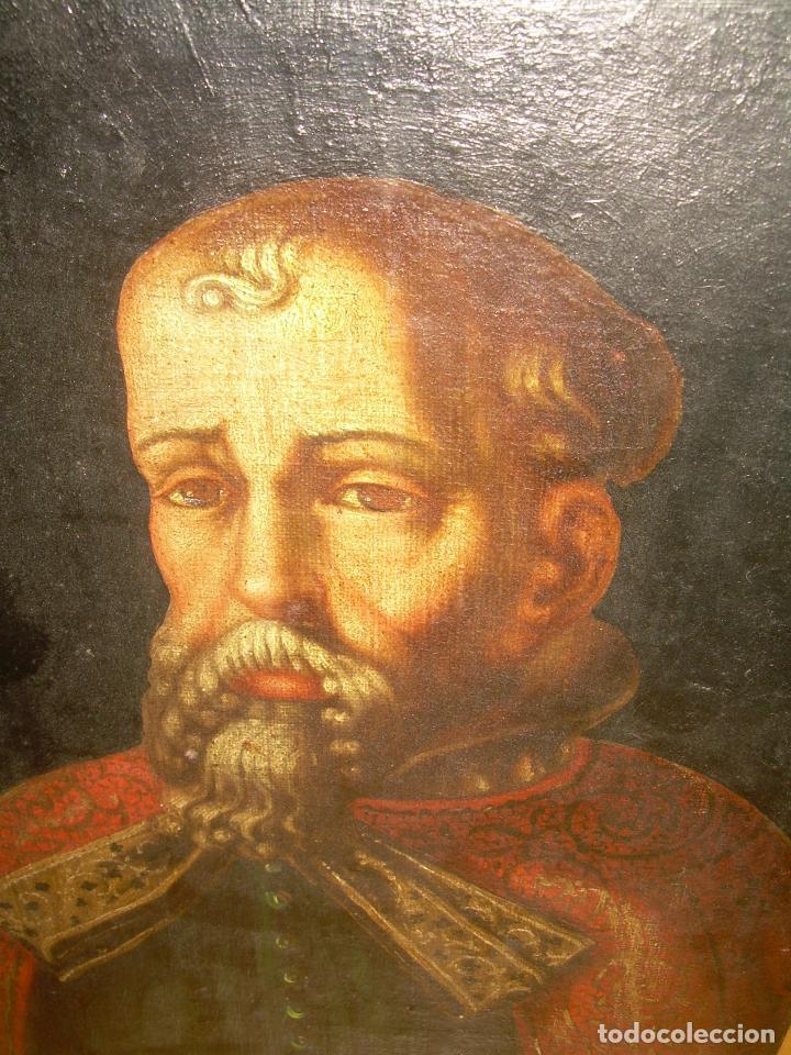 Arte: OLEO SOBRE LIENZO ANONIMO...SIGLO XVIII...CABALLERO. - Foto 6 - 99669067