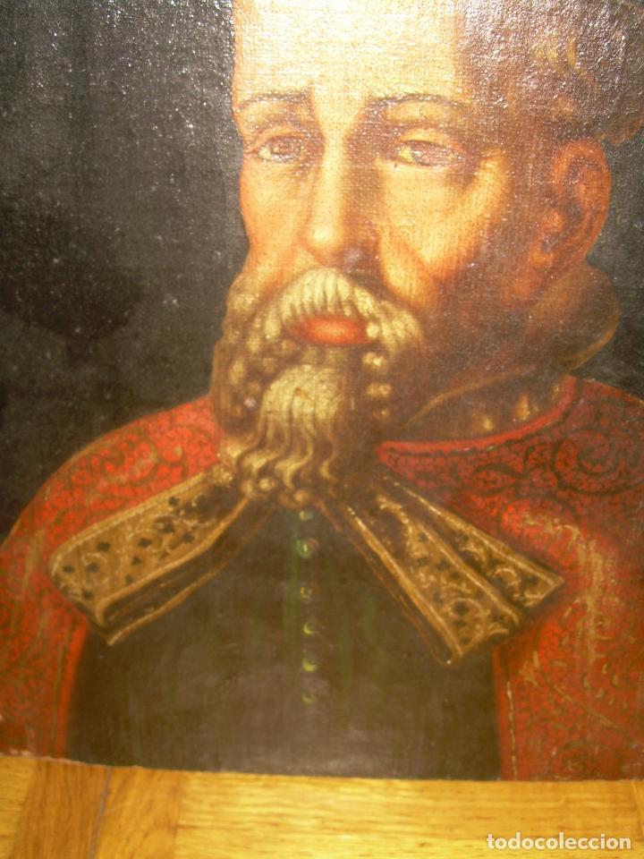 Arte: OLEO SOBRE LIENZO ANONIMO...SIGLO XVIII...CABALLERO. - Foto 7 - 99669067