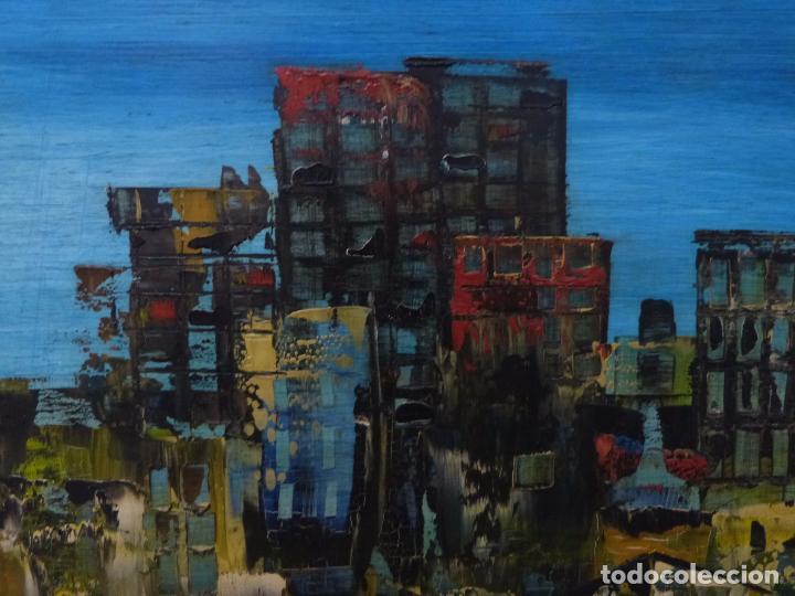 Arte: Lugris Vadillo ( Vigo 1942 - Coruña 2018). Vista del Berbes de Vigo. - Foto 3 - 99714743