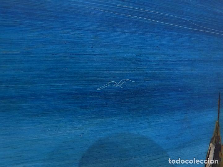 Arte: Lugris Vadillo ( Vigo 1942 - Coruña 2018). Vista del Berbes de Vigo. - Foto 4 - 99714743