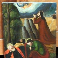 Arte: ESCUELA ESPAÑOLA DEL SIGLO XVII. RETABLO PINTANDO SOBRE TABLA DE TEMA RELIGIOSO. Lote 99743231