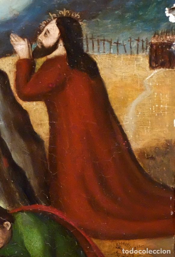 Arte: ESCUELA ESPAÑOLA DEL SIGLO XVII. RETABLO PINTANDO SOBRE TABLA DE TEMA RELIGIOSO - Foto 2 - 99743231