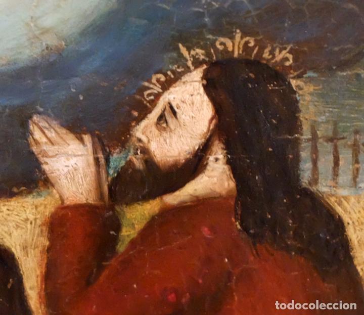 Arte: ESCUELA ESPAÑOLA DEL SIGLO XVII. RETABLO PINTANDO SOBRE TABLA DE TEMA RELIGIOSO - Foto 3 - 99743231