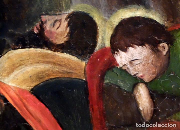 Arte: ESCUELA ESPAÑOLA DEL SIGLO XVII. RETABLO PINTANDO SOBRE TABLA DE TEMA RELIGIOSO - Foto 5 - 99743231