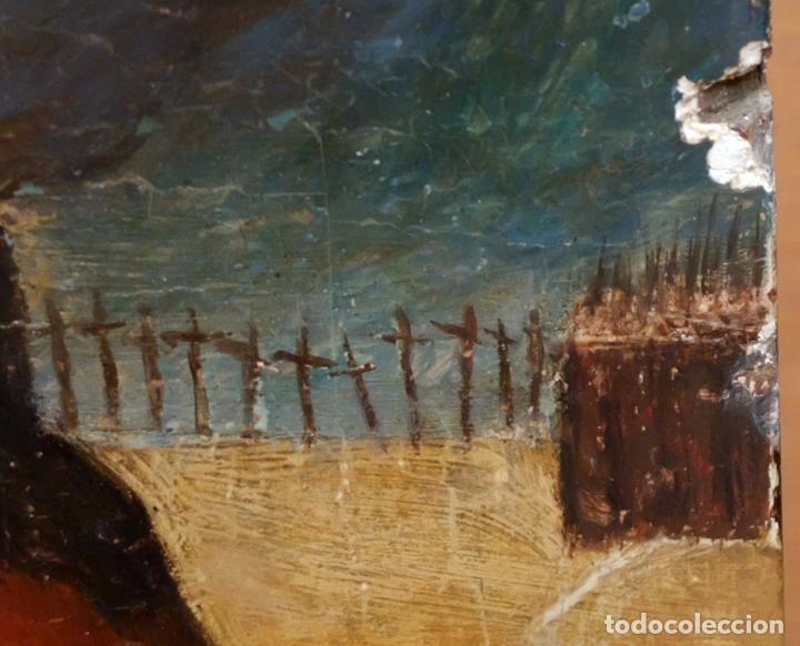Arte: ESCUELA ESPAÑOLA DEL SIGLO XVII. RETABLO PINTANDO SOBRE TABLA DE TEMA RELIGIOSO - Foto 6 - 99743231