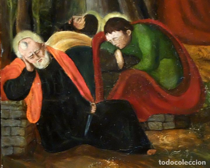 Arte: ESCUELA ESPAÑOLA DEL SIGLO XVII. RETABLO PINTANDO SOBRE TABLA DE TEMA RELIGIOSO - Foto 8 - 99743231