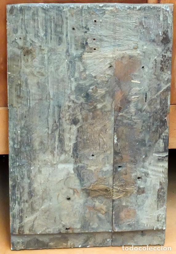 Arte: ESCUELA ESPAÑOLA DEL SIGLO XVII. RETABLO PINTANDO SOBRE TABLA DE TEMA RELIGIOSO - Foto 9 - 99743231
