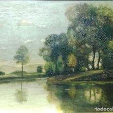 Arte: ÓLEO SOBRE TABLA. FIRMADO. PAISAJE.. Lote 99787663