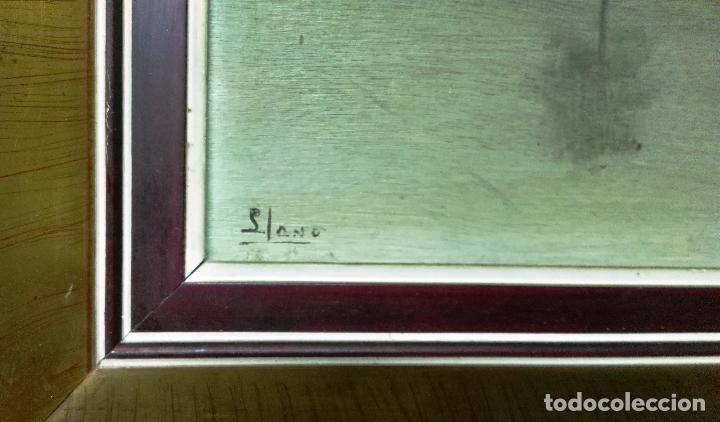 Arte: Óleo sobre tabla. Firmado. Paisaje. - Foto 3 - 99787663