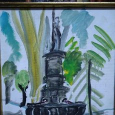 "Arte: MIGUEL SERRANO ""CROMA"" FUENTE DEL AMOR ÓLEO LIENZO. Lote 99823839"
