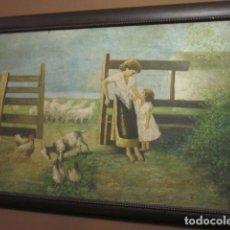 Arte: OLEO ANTIGUO EN LIENZO ENMARCADO MEDIDAS 88 X 59,5. Lote 99825199