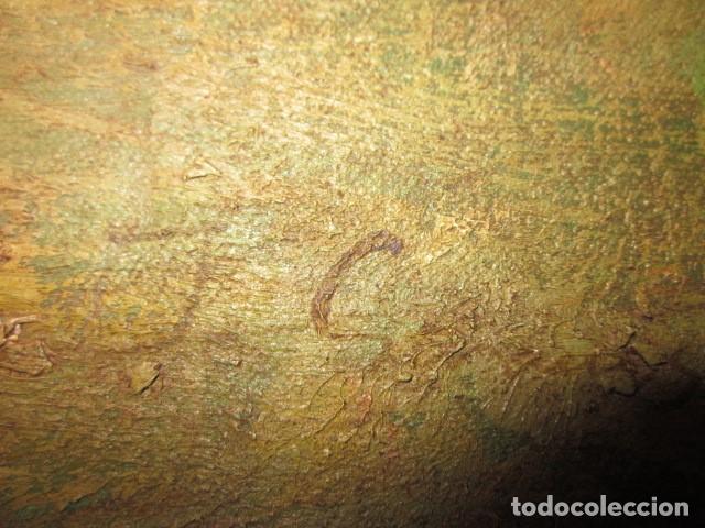 Arte: oleo antiguo en lienzo enmarcado medidas 88 x 59,5 - Foto 3 - 99825199
