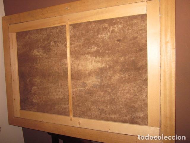 Arte: oleo antiguo en lienzo enmarcado medidas 88 x 59,5 - Foto 4 - 99825199