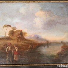 Arte: CUADRO SEVILLANO COSTUMBRISTA OLEO LIENZO J. D. BECQUER (ATRIBUIDO). Lote 99906463