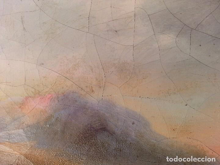 Arte: CUADRO SEVILLANO COSTUMBRISTA OLEO LIENZO J. D. Becquer (atribuido) - Foto 5 - 99906463