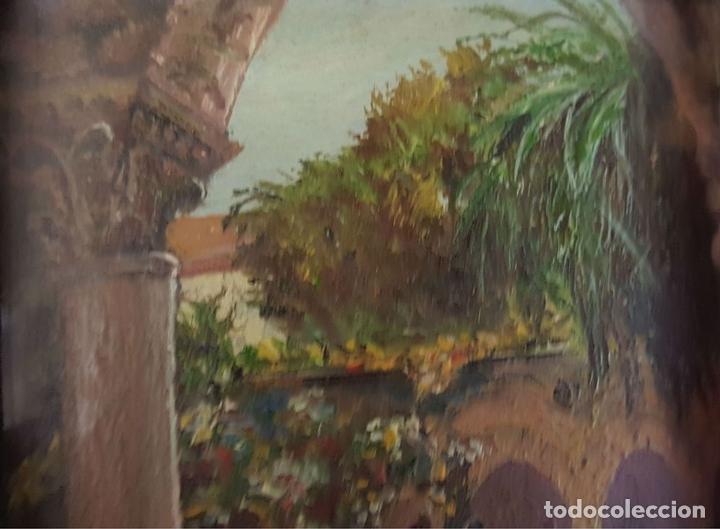 Arte: COLECCIÓN DE 8 MINIATURAS. PAISAJES. ÓLEO SOBRE LIENZO. ELISA LAGOMÁ. 1944. - Foto 3 - 99920847