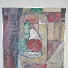Arte: IMPRESIONANTE BODEGÓN CUBISTA - ÓLEO SOBRE TABLA ESTUCADA - GRAN TAMAÑO - 119 X 80 CM. Lote 99934423