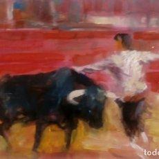 Arte: PINTURA TAURINA. QUIEBRO GOYESCO. ÓLEO. . Lote 99968695