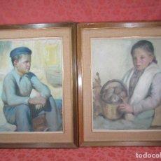 Arte: OLEO SOBRE TELA 2 AGUSTI FERRE PINO (SITGES 1884 - 1960). Lote 100044923